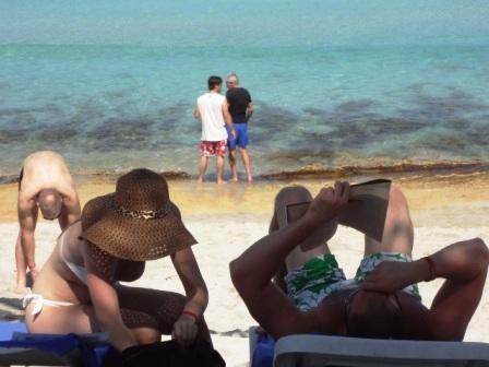 at the Santa Maria beach Havana