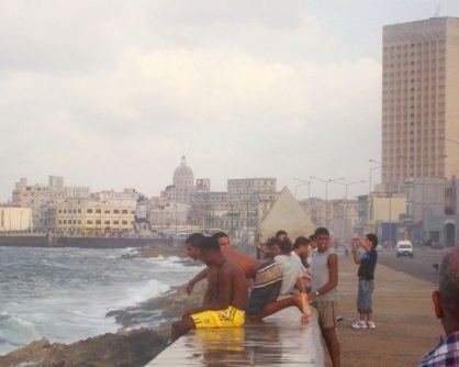 boys on the malecon havana cuba