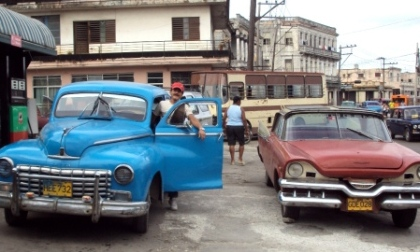 two old cars havana cuba