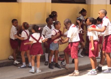 school children havana cuba