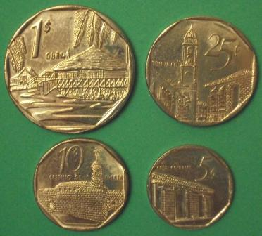 tourist convertible cuban coins