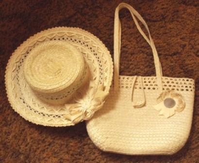 cuban handmade hat and bag