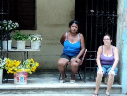 cuban flower sellers