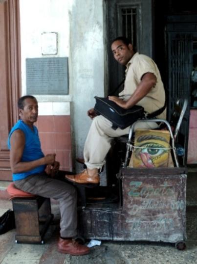 cuban shoe shine man