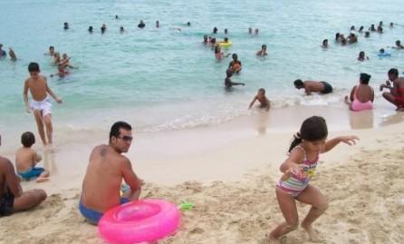 cubans on the beach at santa maria