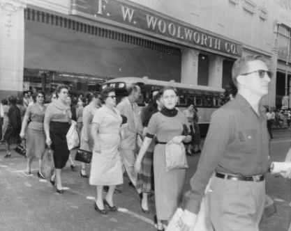 woolworth store in the 50s