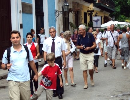 tourists in old havana
